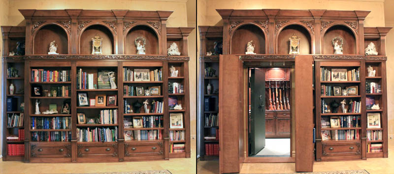 35 secret passageways built into houses twistedsifter for Built in gun safe room