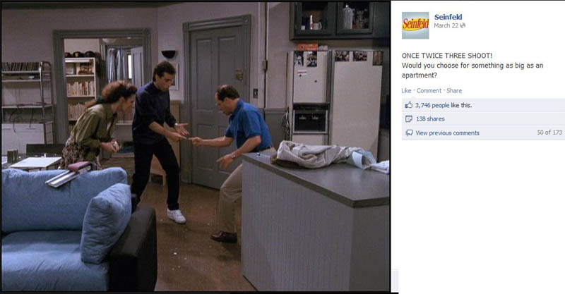 shoot for apartment seinfeld 50 Glorious Moments on Seinfeld
