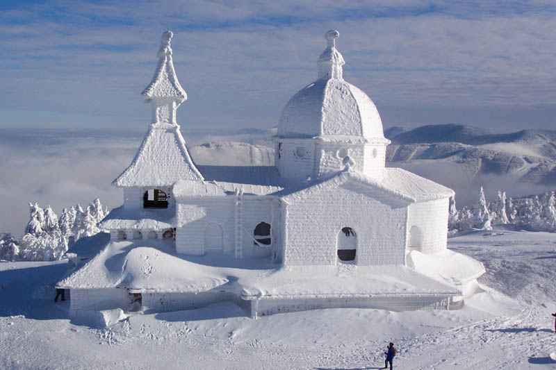 Picture of the Day: Snow Chapel in the Czech Republic