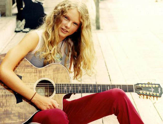 taylor swift younger teenager high school picture 40 Music Stars Before They Were Famous