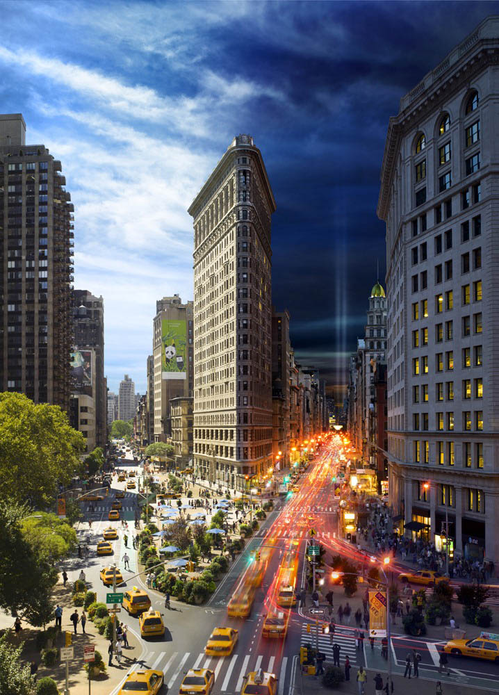 the flatiron building day to night in same photograph stephen wilkes Blending Day and Night into a Single Photograph
