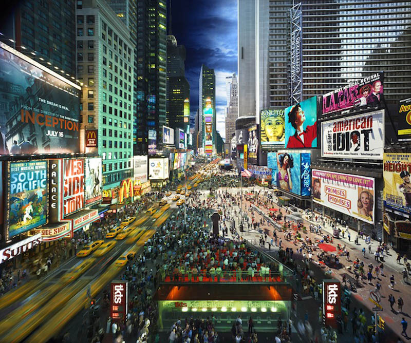 times square day to night in same photograph stephen wilkes Blending Day and Night into a Single Photograph