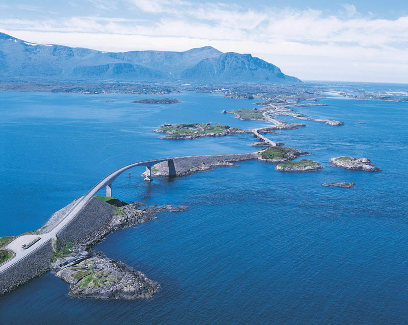 atlantic road norway aerial photograph from above 21 Roads You Have to Drive in Your Lifetime
