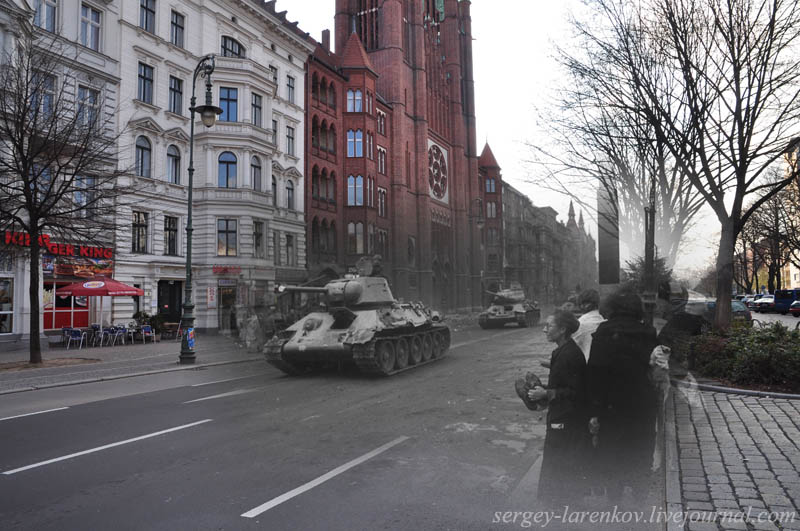 berlin 1945 2010 mehringdamm Blending Scenes from WWII into Present Day