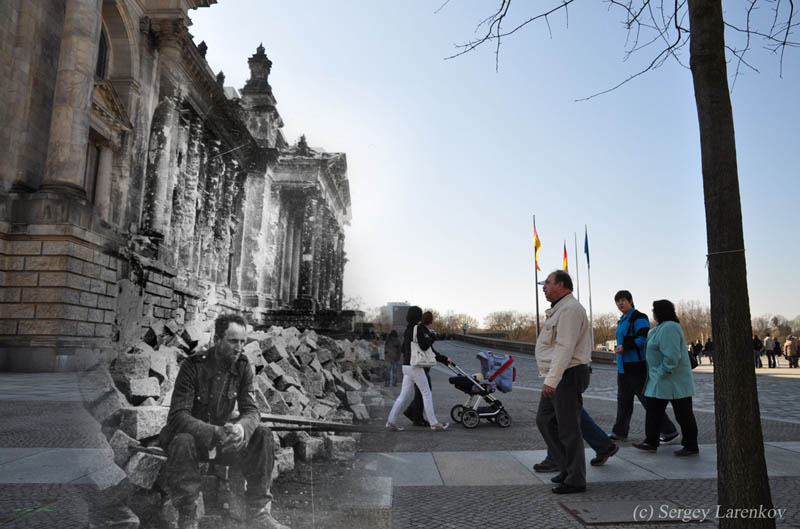 berlin 1945 2012 blending world war 2 photos into present day Blending Scenes from WWII into Present Day