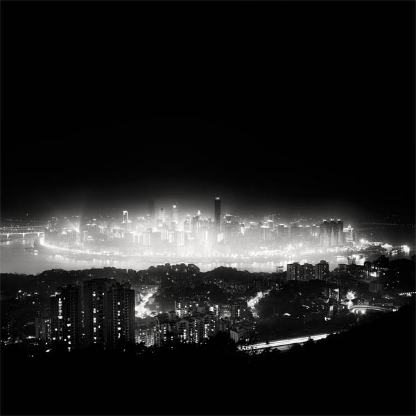 black and white cityscape night photography martin stavars 1 Dramatic Black and White Cityscapes at Night