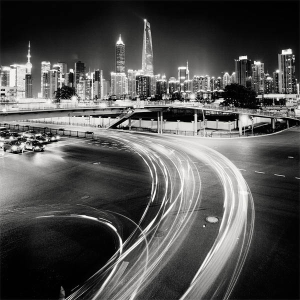 black and white cityscape night photography martin stavars 10 Dramatic Black and White Cityscapes at Night