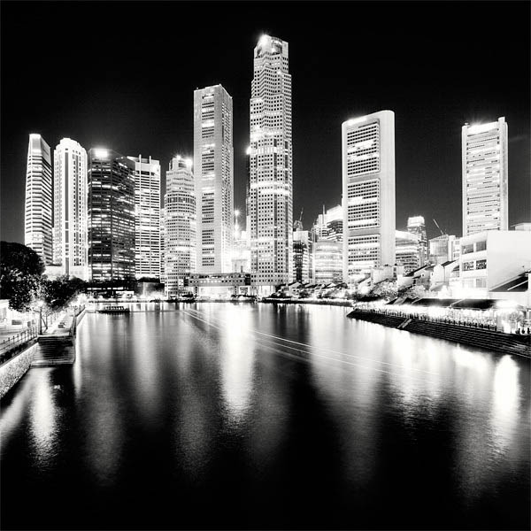 black and white cityscape night photography martin stavars 15 Dramatic Black and White Cityscapes at Night