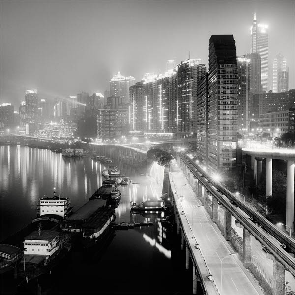 black and white cityscape night photography martin stavars 5 Dramatic Black and White Cityscapes at Night