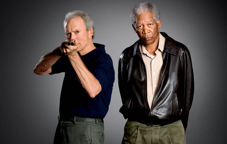 clint eastwood morgan freeman empire shoot Actors Revisit Their Famous Roles in Normal Attire