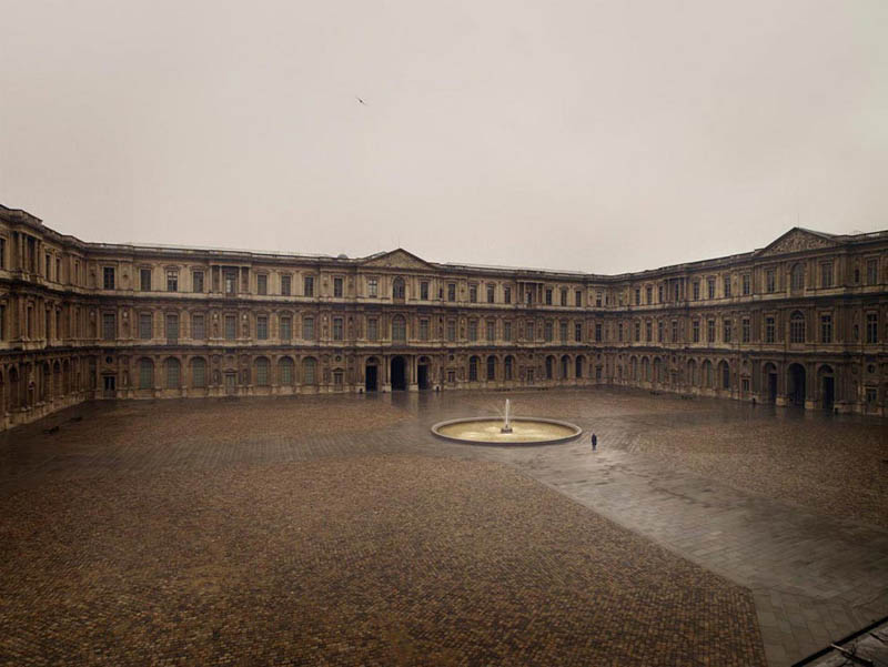 courtyard of the louvre 200x256cm 2010 silent world without people lucie and simon Visions of Cities Without People