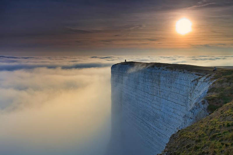 edge of the world beach head chalk cliff southern england Picture of the Day: Worlds Edge