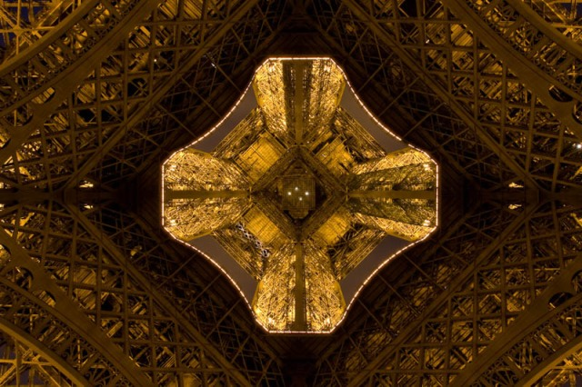 15 Photos Looking Straight Up the Eiffel Tower