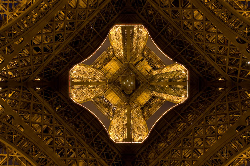 eiffel tower from below looking up 15 Photos Looking Straight Up the Eiffel Tower