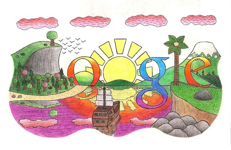 google doodle winners 2012 grade 10 12 9 The Top 50 Google Doodle Contest Winners Gallery