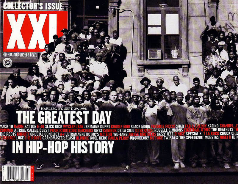 great day in hip hop history xxl magazine harlem 1998 The Most Epic Group Photos You Will See Today