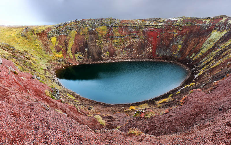 kerid crater lake iceland 15 of the Most Beautiful Crater Lakes in the World