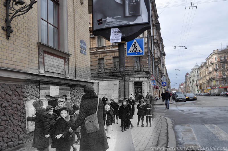 leningrad 1941 2012 st petersburg street rebellion kovensky lane children of the blockade Blending Scenes from WWII into Present Day