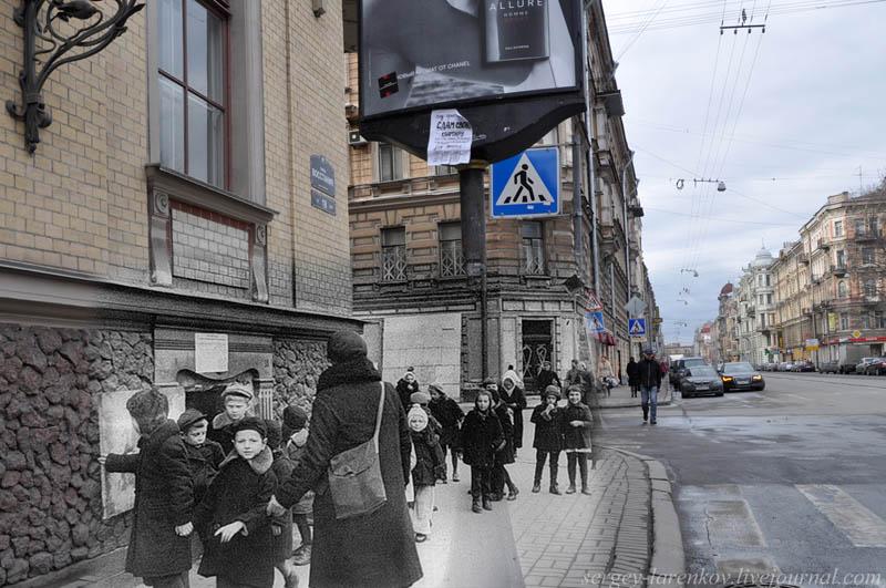 leningrad 1941 2012 st petersburg street rebellion kovensky lane children of the blockade Blending Scenes from WWII into Present Day