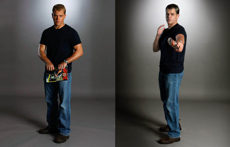 matt damon empire shoot bourne series Actors Revisit Their Famous Roles in Normal Attire