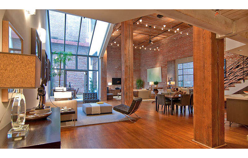 interesting brick loft interior design | Stunning Open Concept Loft with Exposed Brick «TwistedSifter