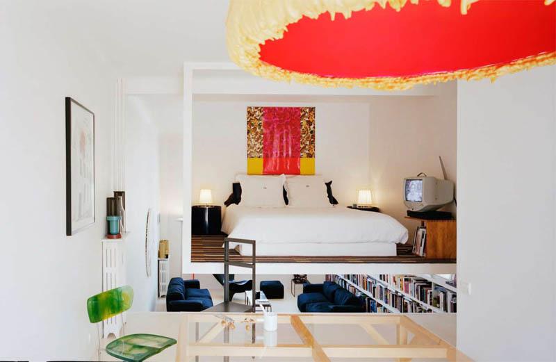open concept loft bachelor apartment with hanging bedroom ecdm valentin 20 unique loft space with hanging