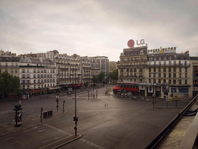 place montparnasse 200x256cm 2008 silent world without people lucie and simon Visions of Cities Without People