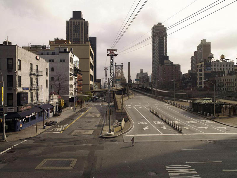 queensboro bridge 200x256cm 2009 silent world without people lucie and simon Visions of Cities Without People