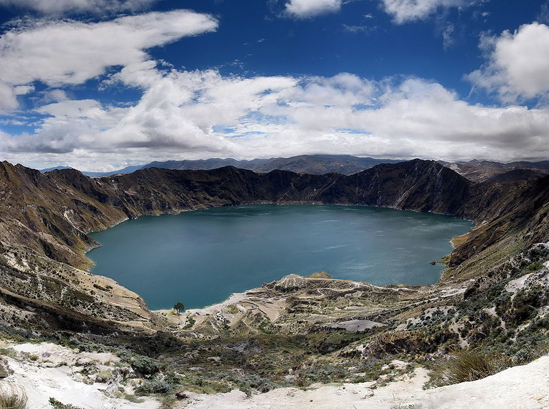 quilotoa crater lake ecuador The Highest Point on Every Continent