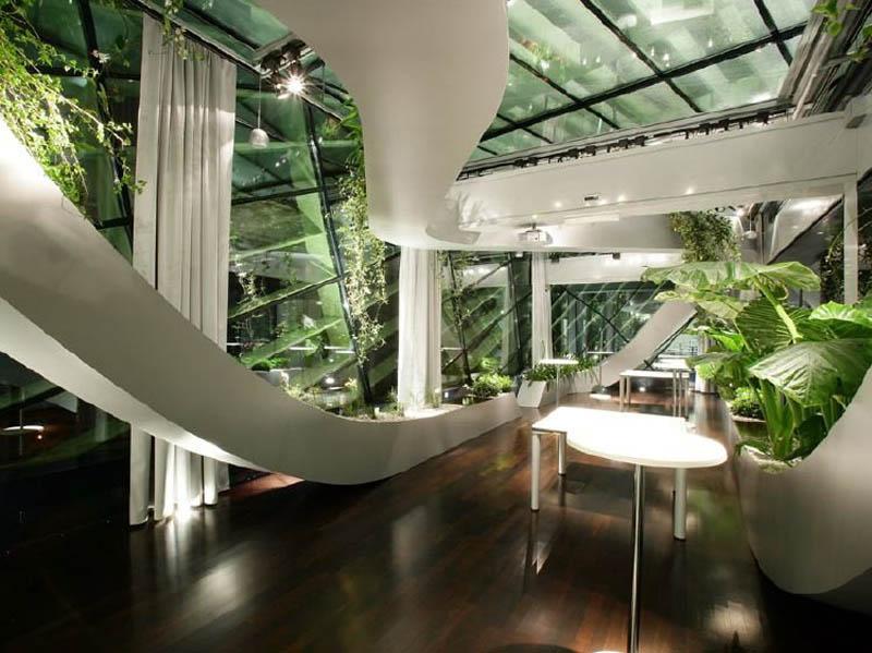 Amazing Rooftop Boardroom with Panoramic Indoor Garden TwistedSifter