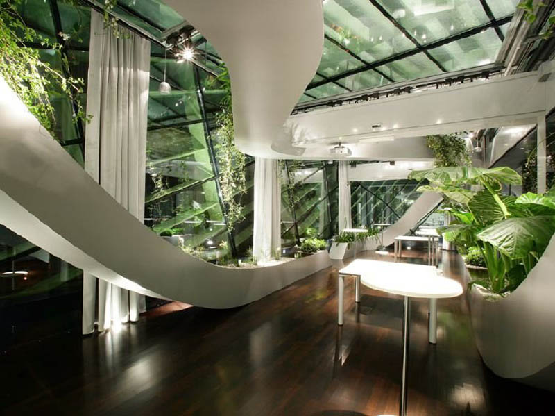 interior garden. rooftop meeting space with swopping lush panoramic interior garden 6  Amazing Rooftop Boardroom Panoramic Indoor Garden TwistedSifter