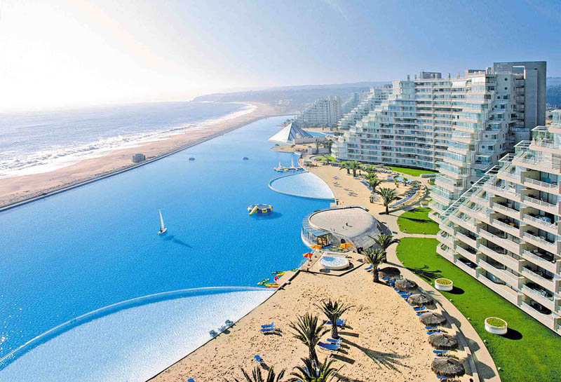 san alfonso del mar aerial satellite from above algarrobo chile 2 The Largest Swimming Pool in the World