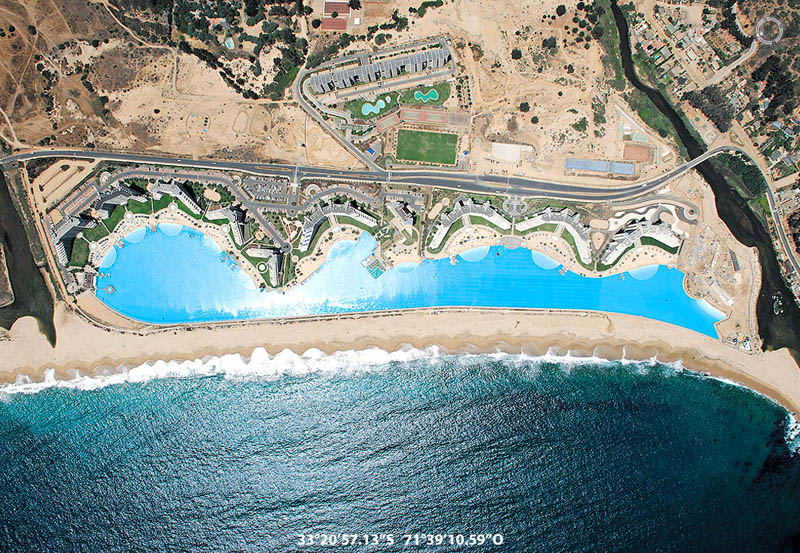 san alfonso del mar aerial satellite from above algarrobo chile 3 The Largest Swimming Pool in the World