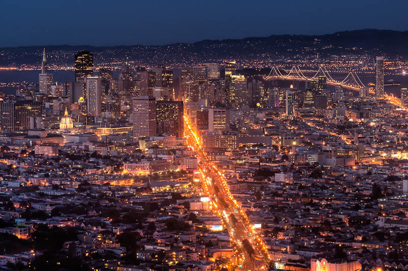 san francisco by night Incredible Architecture Photography by Dave Wilson