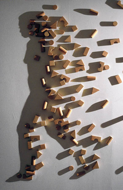shadow art building blocks kumi yamashita 12 Optical Illusions Made from Shadows