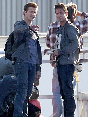 shia labeouf and stunt double 30 Actors Posing With Their Stunt Doubles