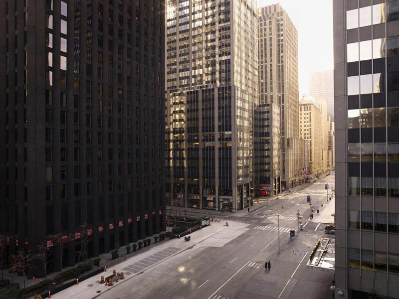 sixth avenue 200x256cm 2009 silent world without people lucie and simon Visions of Cities Without People