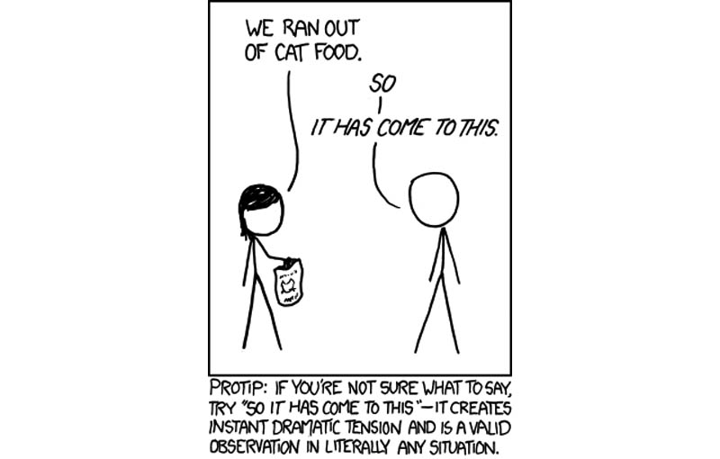 so it has come to this comic xkcd So it has Come to This