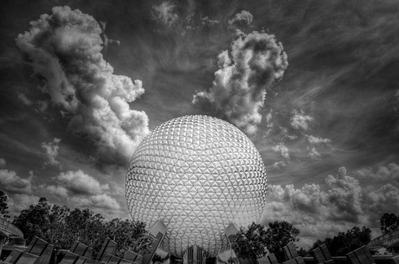 spaceship earth epcot Incredible Architecture Photography by Dave Wilson