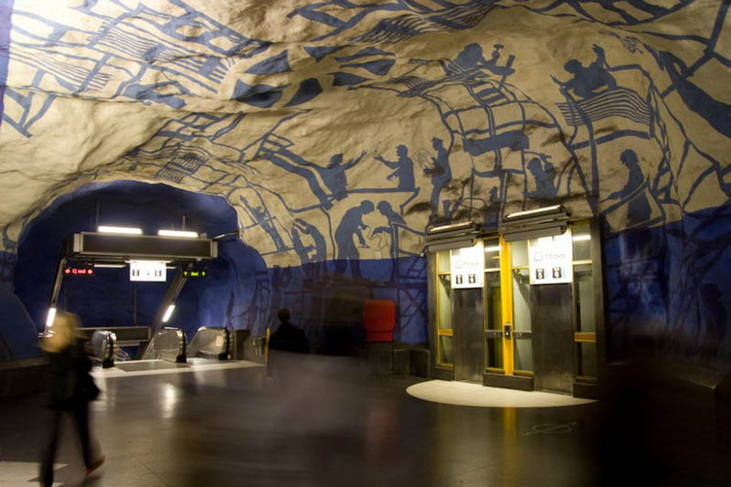 stockholm metro subway art sweden worlds longest art gallery 12 Stockholm Metro: The Worlds Longest Art Gallery