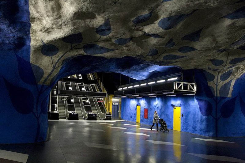 stockholm metro subway art sweden worlds longest art gallery 2 Stockholm Metro: The Worlds Longest Art Gallery