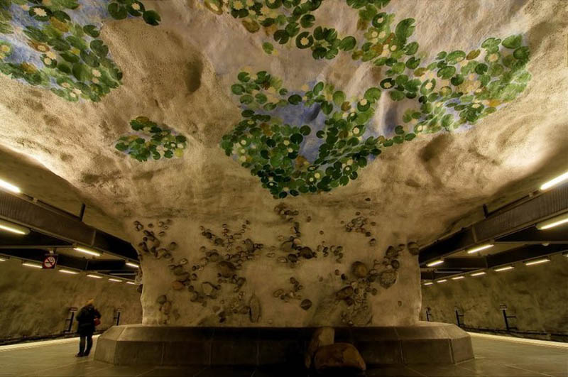 stockholm metro subway art sweden worlds longest art gallery 28 Stockholm Metro: The Worlds Longest Art Gallery