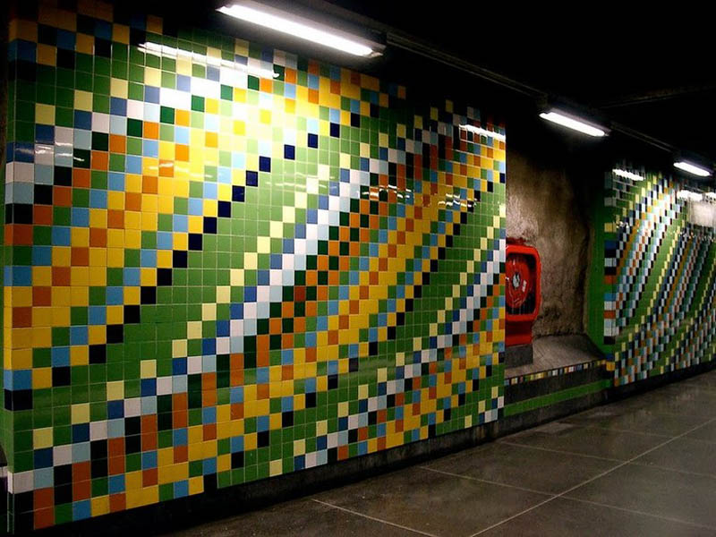 stockholm metro subway art sweden worlds longest art gallery 30 Stockholm Metro: The Worlds Longest Art Gallery