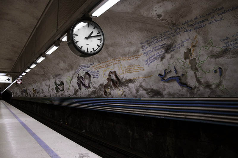 stockholm metro subway art sweden worlds longest art gallery 31 Stockholm Metro: The Worlds Longest Art Gallery