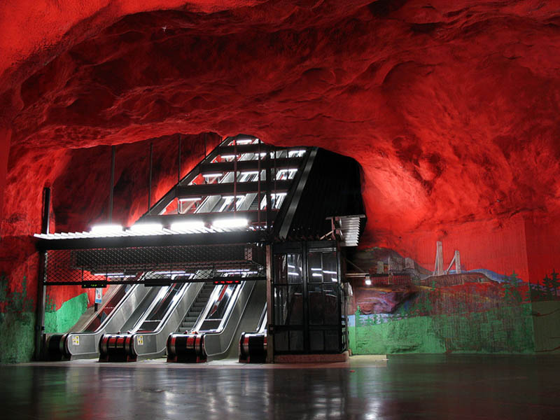 stockholm metro subway art sweden worlds longest art gallery 4 Stockholm Metro: The Worlds Longest Art Gallery
