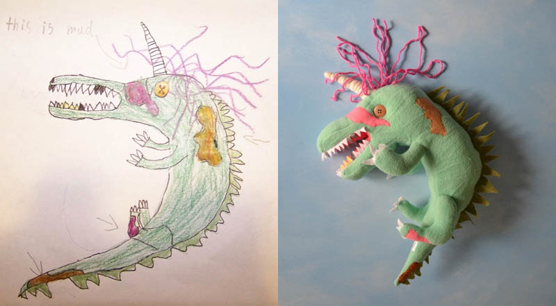 turn kids childrens drawings into plush toys dolls 12 creative mom turns kids drawings into plush - Kids Drawings