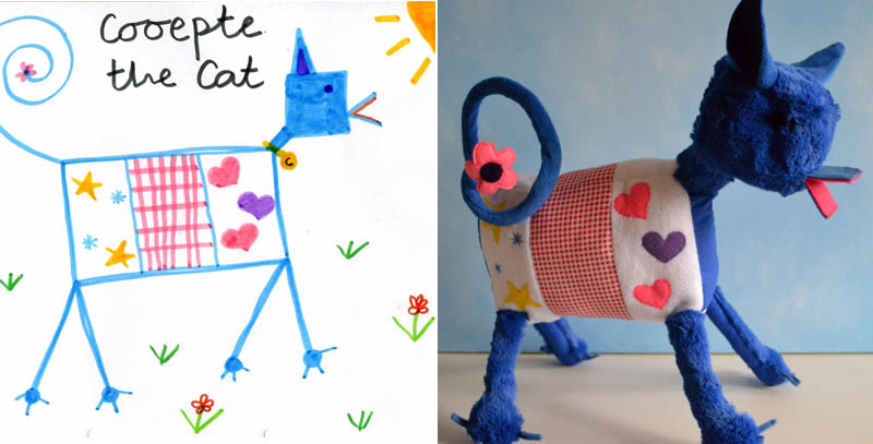 turn kids childrens drawings into plush toys dolls 14 creative mom turns kids drawings into plush - Kids Drawings Images