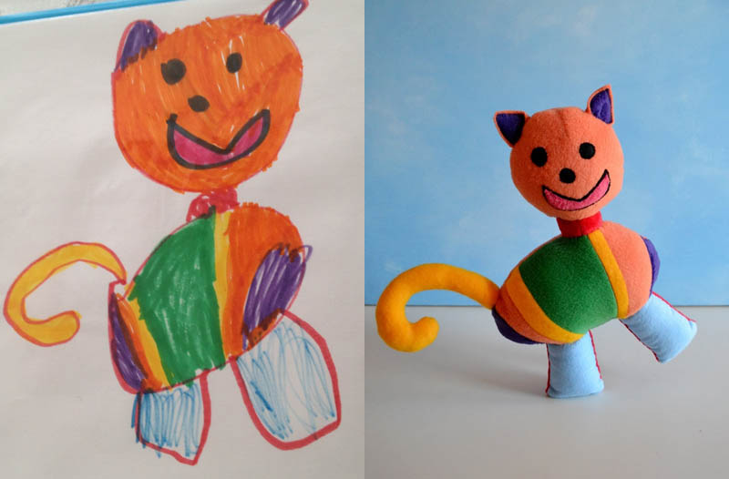 turning kids childrens drawings into plush toys dolls 14 creative mom turns kids drawings into plush