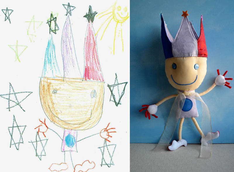 turning kids childrens drawings into plush toys dolls 15 creative mom turns kids drawings into plush
