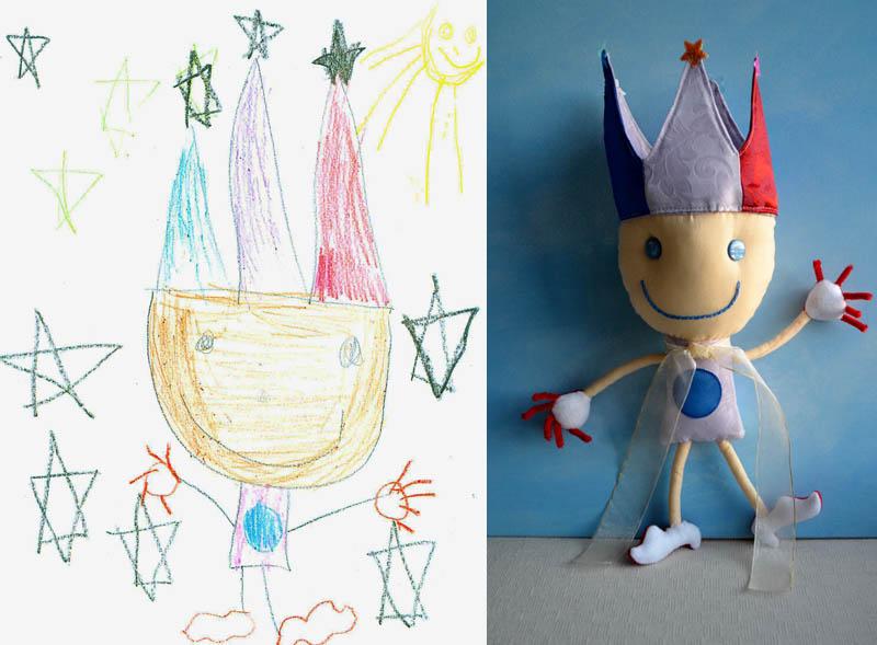 turning kids childrens drawings into plush toys dolls 15 creative mom turns kids drawings into plush